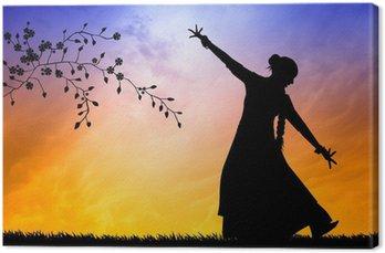 Obraz na Płótnie Taniec indyjski