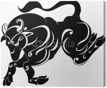 Obraz na Płótnie Tattoo Taurus. Znak Astrologia. Zodiak Wektor
