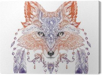 Obraz na Płótnie Tatuaż, Portret dzikich lisów
