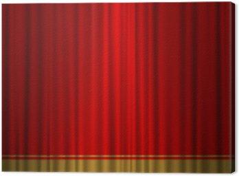 Obraz na Płótnie Teatr złoto czerwone zasłony