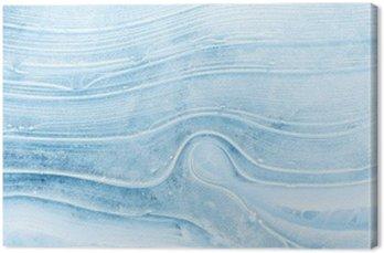 Obraz na Płótnie Tekstury lodu na zamarzniętym jeziorze.