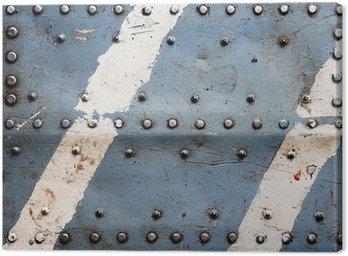 Tekstury metalu z nitami, kadłub samolotu