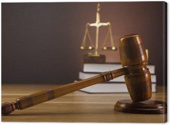 Obraz na Płótnie Temat prawa, młotek sędziego, drewniany młotek