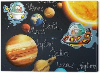 Obraz na Płótnie Tematem kosmici - ufo - dla dzieci