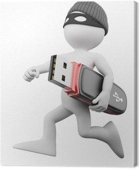 Obraz na Płótnie Thief 3D - Hacker