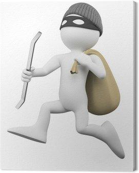 Thief działa z łomem i worek