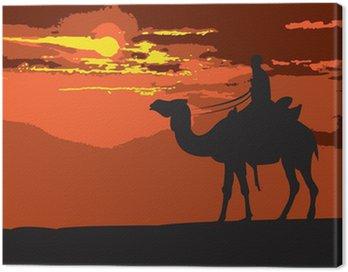 Obraz na Płótnie Through-the-Desert