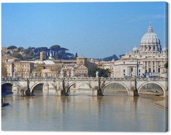 Obraz na Płótnie Tiber River, Ponte Sant 'Angelo, Rzym