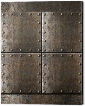 Obraz na Płótnie Tła z nity metalowe zbroje