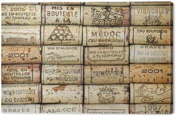 Obraz na Płótnie Tło wina korków