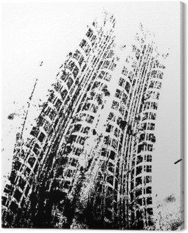 Obraz na Płótnie Tło z toru grunge czarny opon, wektor