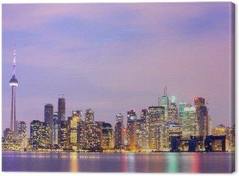 Obraz na Płótnie Toronto Skyline o zmierzchu
