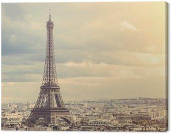 Obraz na Płótnie Tour eiffel w Paryżu