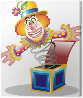 Obraz na Płótnie Toy-Cartoon Clown Klaun Clown-Jouet
