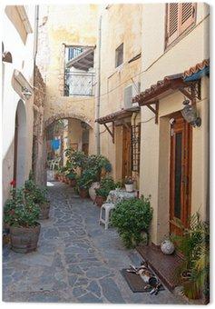 Obraz na Płótnie Tradycyjna grecka ulica.