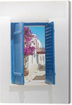 Obraz na Płótnie Tradycyjne greckie okno na Sifnos island, Grecja