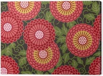 Obraz na Płótnie Tradycyjne kwiaty bez szwu wzór