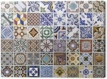 Obraz na Płótnie Tradycyjne płytki z Porto, Portugalia