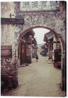Obraz na Płótnie Tradycyjny chiński village street view