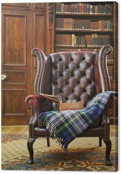 Obraz na Płótnie Tradycyjny fotel Chesterfield
