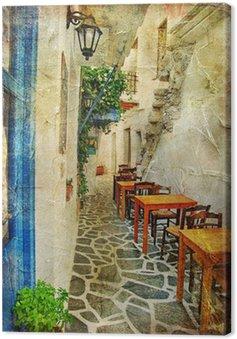 Obraz na Płótnie Tradycyjnych greckich tawern. artystyczny obraz