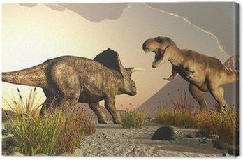 Obraz na Płótnie Triceratops i tyrex Tyrannosaurus rex