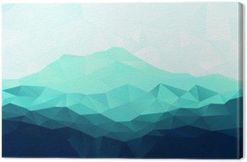 Trójkąt geometryczne tło z Blue Mountain