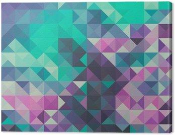 Obraz na Płótnie Trójkąt tło, zielony i fioletowy