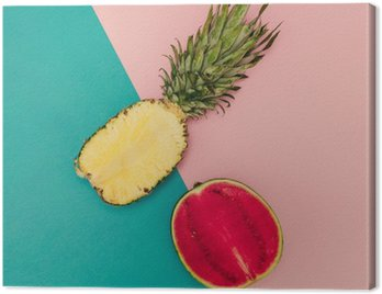 Tropical Mix. Ananas i arbuz. minimalne Style
