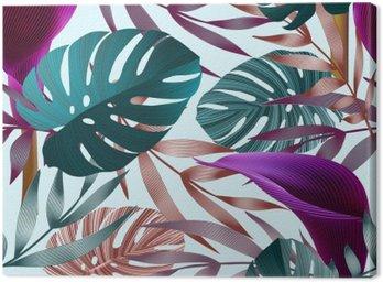 Tropikalne kwiaty, liście, jungle bird of paradise kwiat.