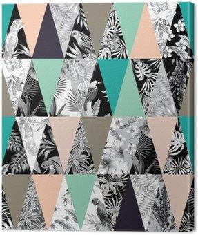 Obraz na Płótnie Tropikalne patchwork bezszwowe tło