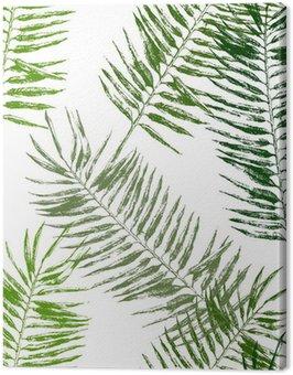 Obraz na Płótnie Tropikalnych liści bez szwu