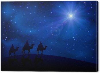 Obraz na Płótnie Trzech mędrców i gwiazda