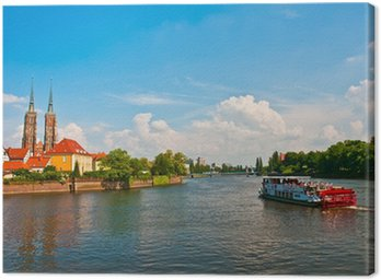 Obraz na Płótnie Turystyczny rejs po Odrze, Wrocław, Polska