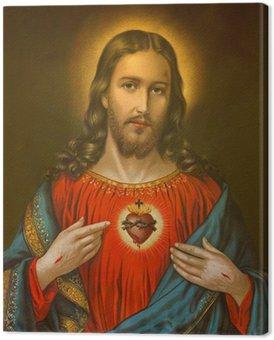 Obraz na Płótnie Typowe katolickie obraz Serca Pana Jezusa