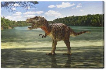 Obraz na Płótnie Tyranozaurem w poszukiwaniu jedzenia