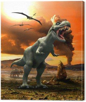 Obraz na Płótnie Tyranozaurem