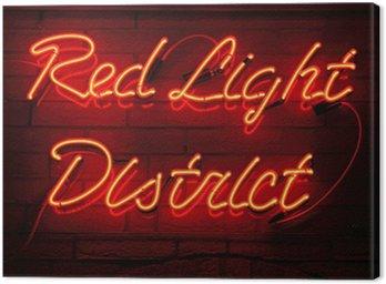Obraz na Płótnie Ulica Czerwonych Latarni