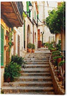 Obraz na Płótnie Ulica w miejscowości Valldemossa na Majorce