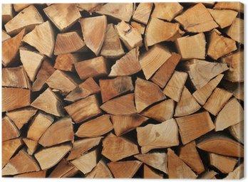 Obraz na Płótnie Ułożone jedna nad drugą, jak kłody drewna opałowego