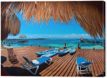Obraz na Płótnie Urlop w tropikach Raj. Isla Mujeres, Meksyk