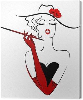 Obraz na Płótnie Urocze damy palenie papierosów
