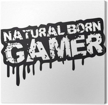 Obraz na Płótnie Urodzonym gamer stempel Graffiti
