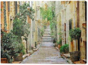 Urokliwe uliczki śródziemnomorskich, artystyczny obraz
