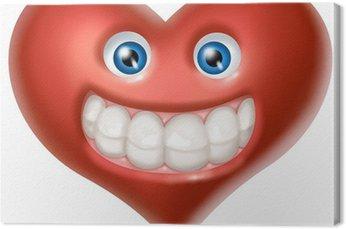 Obraz na Płótnie Uśmiech serce