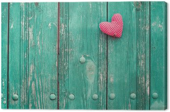 Obraz na Płótnie Valentine serca na drewnianym tle archiwalne