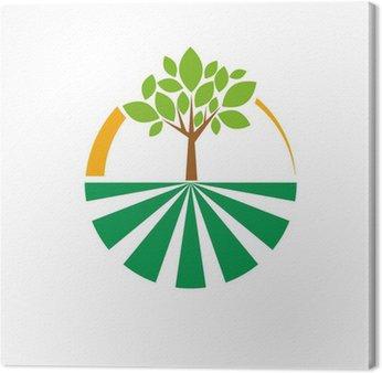 Obraz na Płótnie Vector ekologiczne logo rolnictwa, Warzywniak