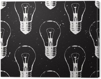 Vector grunge szwu z żarówek. Nowoczesne hipster stylu szkic. Idea i koncepcja twórcze myślenie.