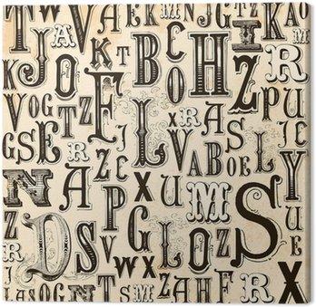 Obraz na Płótnie Vintage alfabet