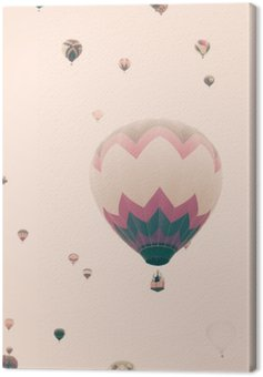 Vintage balonów na ogrzane powietrze w locie